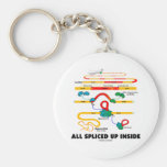 All Spliced Up Inside (RNA Splicing) Basic Round Button Keychain