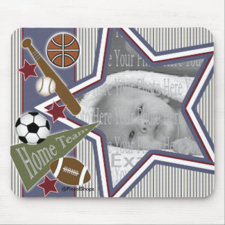 All Sports Baby Photo Template Mouse Mouse Pad