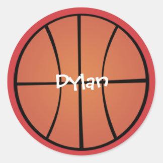 All Sports Basketball Classic Round Sticker