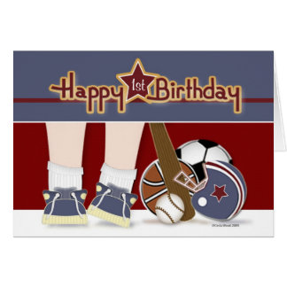 All Sports Birthday Card Age Template