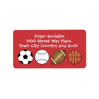All Sports Personalized Address Labels