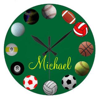 All Sports Sport Fan Clock