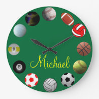 All Sports Sport Fan Wall Clocks