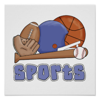All Sports T-shirts and Gifts Poster