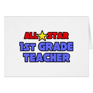 All Star 1st Grade Teacher Cards