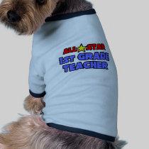 All Star 1st Grade Teacher Dog Tee