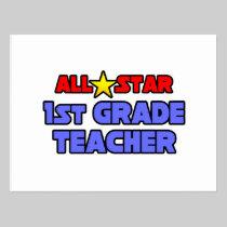 All Star 1st Grade Teacher Postcard