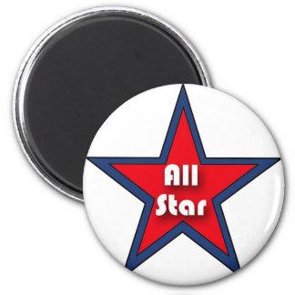 All Star 2 Inch Round Magnet