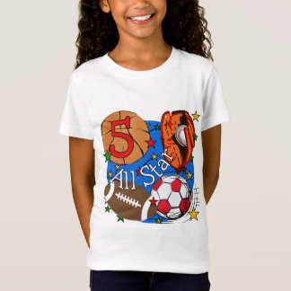 All Star 5th Birthday T-shirts and Gifts