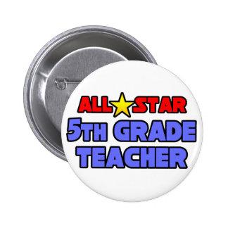 All Star 5th Grade Teacher 2 Inch Round Button
