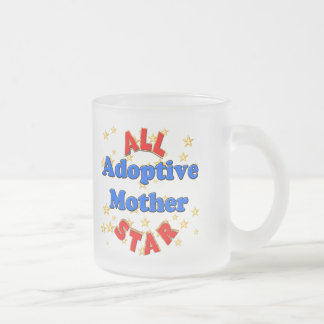 All Star Adoptive Mother Mothers Day Gifts 10 Oz Frosted Glass Coffee Mug