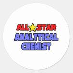 All Star Analytical Chemist Classic Round Sticker