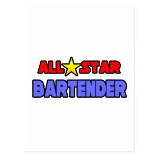 All Star Bartender Postcard