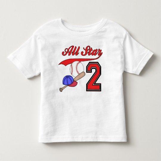 All Star Baseball 2nd Birthday Toddler T Shirt