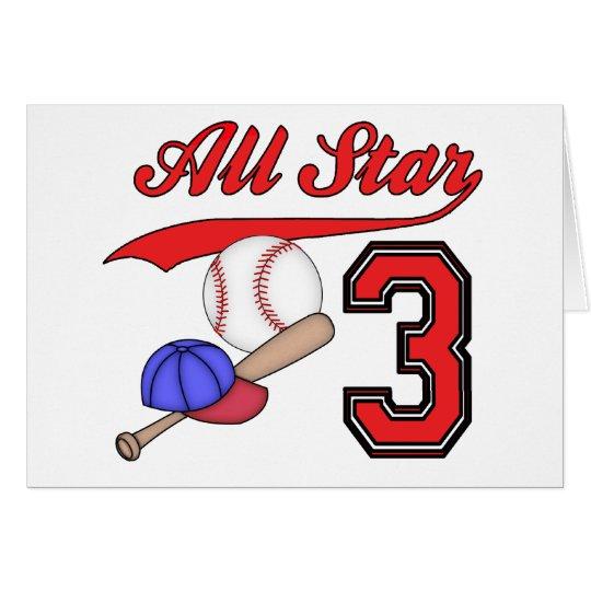 All Star Baseball 3rd Birthday Invitations