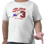 All Star Baseball 3rd Birthday Personalized T-shirts