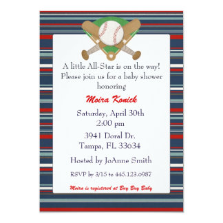 All Star baseball baby shower invitation