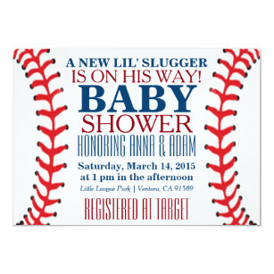 Superb All Star Baseball Baby Shower Invitations