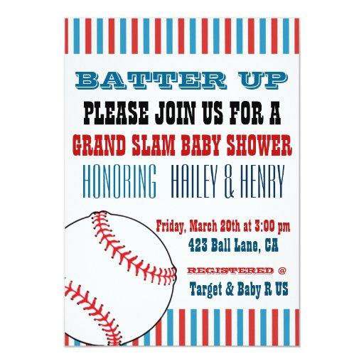 all star baseball baby shower invitations zazzle