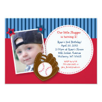 All Star Baseball Photo Birthday Invitations