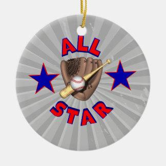 all star baseball player graphic christmas ornaments