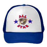 All Star Baseball Player Hat