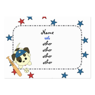 All-Star Baseball Puppy Large Business Cards (Pack Of 100)