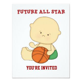 All-Star Basketball Baby Shower Invitation