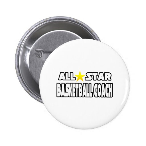 All Star Basketball Coach Pins
