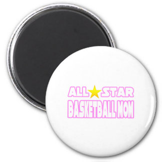 All Star Basketball Mom 2 Inch Round Magnet