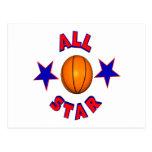 All Star Basketball Post Card
