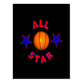 All Star Basketball Postcard