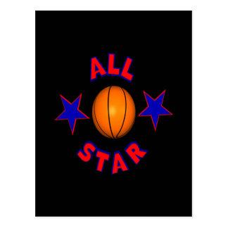 All Star Basketball Postcard