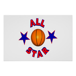 All Star Basketball Poster