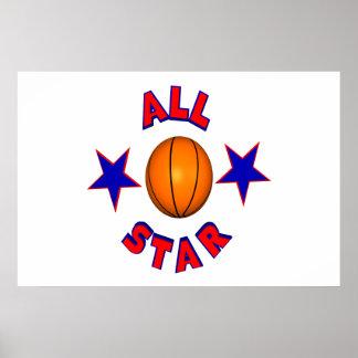 All Star Basketball Print