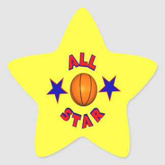 All Star Basketball Star Sticker