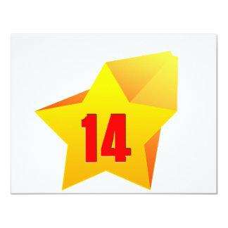 ¡All Star catorce años! Cumpleaños Anuncios
