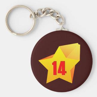 ¡All Star catorce años! Cumpleaños Llaveros Personalizados