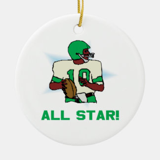 All Star Ceramic Ornament