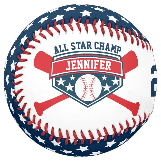 All Star Champ Personalize Softball