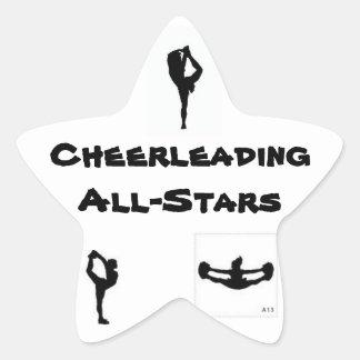 all star cheer star sticker