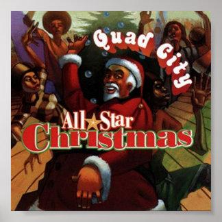 all star christmas poster