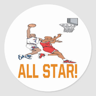 All Star Classic Round Sticker