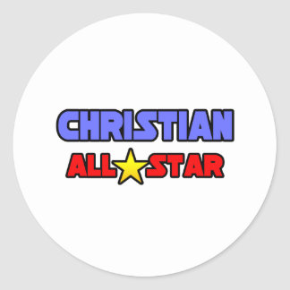 All Star cristiano Pegatinas Redondas