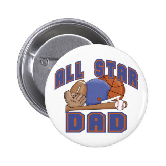 All Star Dad SPORTS Button
