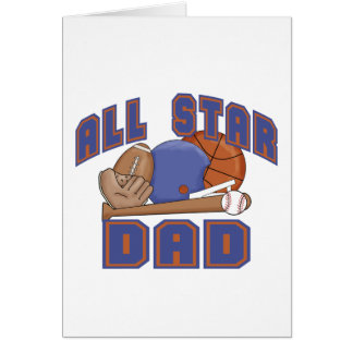 All Star Dad SPORTS Greeting Cards