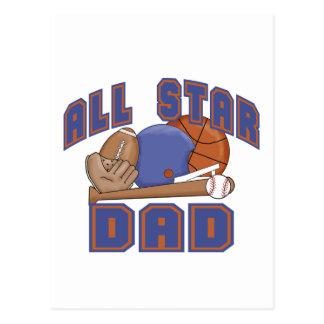 All Star Dad SPORTS Postcard