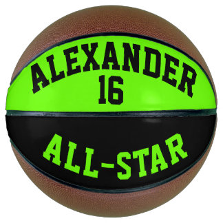 All Star Dayglow Green and Black Basketball