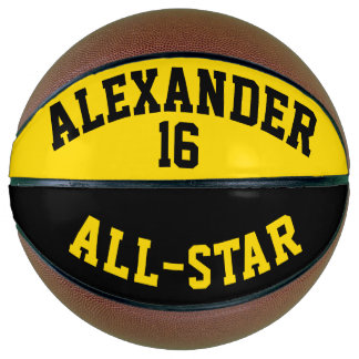 All Star Dayglow Yellow and Black Basketball