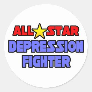 All Star Depression Fighter Classic Round Sticker